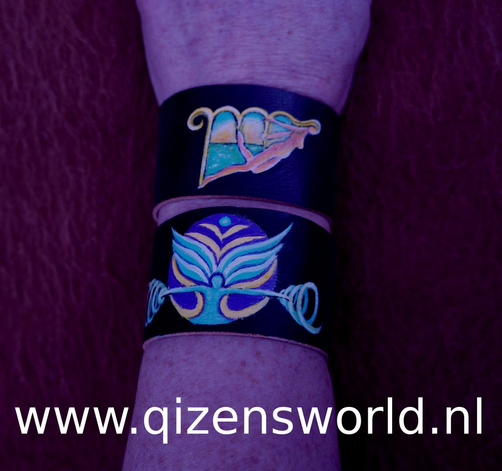 Virgo and Libra. They are one size fits all, because of the elastic closure. They are 3 cm/ 1.5 inches wide. All Astrology sign bracelets are 22,22 euro.